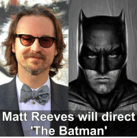 "Batman, Memes, and Warner Bros.: Matt Reeves will direct  ""The Batman From @dccomicsunited - ""I have loved the Batman story since I was a child. He is such an iconic and compelling character, and one that resonates with me deeply. I am incredibly honored and excited to be working with Warner Bros. to bring an epic and emotional new take on the Caped Crusader to the big screen."" - Matt Reeves - Reeves directed Cloverfield, Dawn of the Planet of the Apes, & War for the Planet of the Apes - Source - TheWrap"