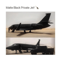 Like if you want this 😍🖤: Matte Black Private Jet! e  00-VRO  000 000 Like if you want this 😍🖤