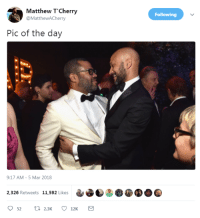 Blackpeopletwitter, Who, and Mar: Matthew T'Cherry  @MatthewACherry  Following  Pic of the day  9:17 AM-5 Mar 2018  2,326 Retweets 11,592 Likes  52  2.3K  12K <p>Find someone who holds you the way Key holds Peele (via /r/BlackPeopleTwitter)</p>