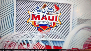 College, College Football, and Football: MAUI  TINVITATIONAL  CHAMINADE  COLLEGE FOOTBALL PLAYOFF  T2 PLAYOFF Utah closely watching how far Oregon falls Golden State Warriors Assistant GM Larry Harris was at the game.   https://t.co/Pzy0OccTKr https://t.co/1SvsZPrjVa