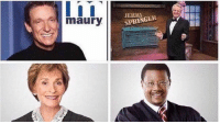 Funny, Maury, and School: maury  SPRINGER *staying home from school starter pack* https://t.co/DIedWq9jGO