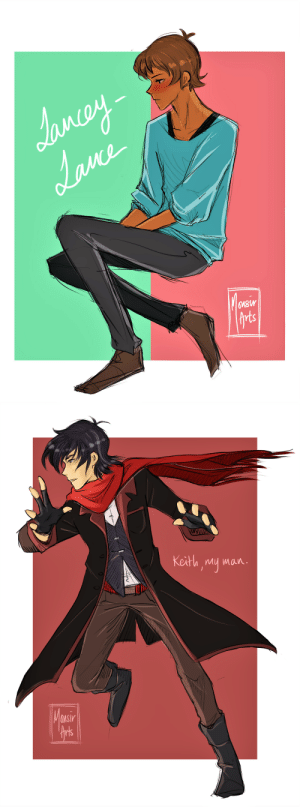 "Target, Tumblr, and Blog: Maw  frts   Keith mu man  MSI monsir-arts:  I did a simple Lance, then thought, ""Why not do a Keith too?""  And that's how I ended up spending hours on Keef."