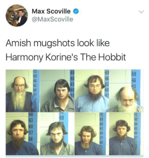 Filmed on location in Lancaster, PA: Max Scoville  @MaxScoville  Amish mugshots look like  Harmony Korine's The Hobbit  69  69  63  60  63  60  54 Filmed on location in Lancaster, PA