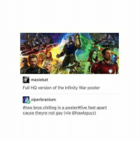 FJSODHSKDHSKDHD ° 《cred to @novatonys 》: maxiekat  Full HQ version of the Infinity War poster  viperbranium  #two bros chilling in a poster#five feet apart  cause theyre not gay (via @hawkguyz) FJSODHSKDHSKDHD ° 《cred to @novatonys 》