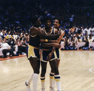 "Finals, Magic Johnson, and Game: May 16, 1980: Magic Johnson secured the chip with LA in Game 6  ▪️ 6'9"" PG started at C for injured Kareem ▪️ Played all 5 positions ▪️ 42 PTS, 15 REB, 7 AST ▪️ Won Finals MVP as a rookie"