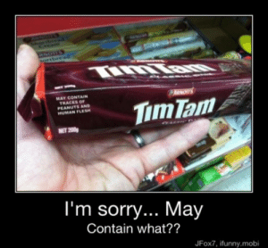 Funny Candy bar Memes: MAY CONTAIN  TRACES OF  PEANUTS AND  HUMAN FLESH  NET 200  I'm sorry... May  Contain what??  JFox7, ifunny.mobi Funny Candy bar Memes