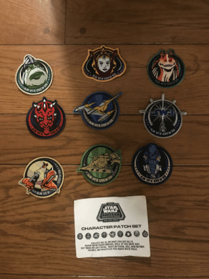 May not be a meme but I have my dads ilm vfx crew episode one, the phantom menace patches.: May not be a meme but I have my dads ilm vfx crew episode one, the phantom menace patches.