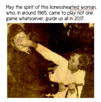 "Blackhistory, Memes, and 🤖: May the spirit of this lionesshearted woman,  who, in around 1965, came to play not one  game whatsoever, guide us all in 2017. A physical representation of the phrases: ""Somebody done told you wrong"" - ""Come catch these hands"" & ""You gone learn today."" All in one picture. May we be her. May we know her. May we raise her. ❤ Resist Repost @theblaquelioness BlackHistoryMonth BlackHistory BlackLivesMatter BlackFutureMonth"