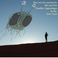 Memes, Ramen, and 🤖: May you be touched by  His and Her  Noodley Appendages  in the  New Year! R'Amen. ~Vix~