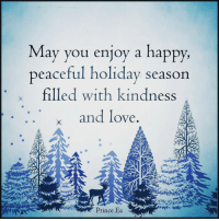 I hope this holiday season brings you joy. Christmas Holiday Hanukkah kwanzaa 3kingsday St.LuciaDay: May you enjoy a happy,  peaceful holiday season  x filled with kindness  x and love  Prince Ea I hope this holiday season brings you joy. Christmas Holiday Hanukkah kwanzaa 3kingsday St.LuciaDay
