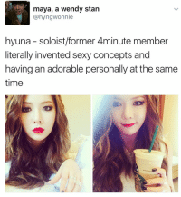 MOM . . . . . . . . . Credit to owner✌: maya, a wendy stan  @hyngwonnie  hyuna soloist/former 4minute member  literally invented sexy concepts and  having anadorable personally at the same  time MOM . . . . . . . . . Credit to owner✌