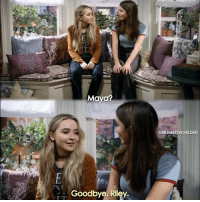 Memes, Only One, and 🤖: Maya?  Goodbye, Riley  GIRLMEETSWORLDHD GirlMeetsGoodbye only one more episode left till Girl Meets World is over, are you sad it's over?