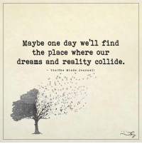 Memes, Reality, and 🤖: Maybe one day we'll find  the place where our  dreams and reality collide.  Via The Mind s Journal) Maybe one day we'll find the place where our dreams and reality collide.