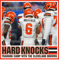 The season finale of #HardKnocks with the @Browns starts NOW on @HBO! 🙌 https://t.co/BvFHxBEwDV: MAYFIELI  TRAINING CAMP WITH THE CLEVELAND BROWNS The season finale of #HardKnocks with the @Browns starts NOW on @HBO! 🙌 https://t.co/BvFHxBEwDV