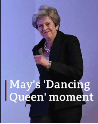 UK Prime Minister Theresa May made quite an entrance for her Tory conference speech by boogieing to Abba's Dancing Queen. 💃🏻 Of course, it's not the first time she's attempted some fancy footwork... Click the link in our bio 👆 to find out why she did it? And whether it worked... theresamay dancingqueen dance dancing bbcnews: May's 'Dancing  Queen' moment UK Prime Minister Theresa May made quite an entrance for her Tory conference speech by boogieing to Abba's Dancing Queen. 💃🏻 Of course, it's not the first time she's attempted some fancy footwork... Click the link in our bio 👆 to find out why she did it? And whether it worked... theresamay dancingqueen dance dancing bbcnews