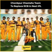Hahaha....what if? :P  Revamp your wardrobe with us: http://bwkf.shop/View-Collection: Mazo  ama  Chonkpur Cheetahs Team  To Replace RCB in Next IPL  ama  maz  ronin  Bewakoof  Com  izolm Hahaha....what if? :P  Revamp your wardrobe with us: http://bwkf.shop/View-Collection