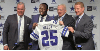 BREAKING: The Dallas Cowboys acquire LeSean McCoy after hearing about his domestic violence allegations. https://t.co/DDmtEl8lTl: McCOY BREAKING: The Dallas Cowboys acquire LeSean McCoy after hearing about his domestic violence allegations. https://t.co/DDmtEl8lTl