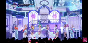 Twice spelled out 'Mina' on the comeback stage for their final pose <3 (for those who are confused, if you connect the Red Lines it will form the letter 'M', Yellow for the 'I', Green for the 'N', Purple for the 'A'.: MCD COMEBACK SPECIAL  COUNT  TWICE(E1OIA)  Mnet  k-pop Twice spelled out 'Mina' on the comeback stage for their final pose <3 (for those who are confused, if you connect the Red Lines it will form the letter 'M', Yellow for the 'I', Green for the 'N', Purple for the 'A'.