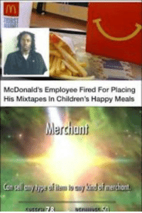 Meme, Mixtapes, and Skyrim: McDonaid's Employee Fired For Placing  His Mixtapes In Children's Happy Meals  Merchant  jun Are skyrim meme still relevant