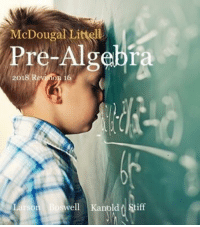 Algebra,  Realistic, and Textbook: McDougal Littell  Pre-Algebra  2018  vell KanoldStiff Realistic textbook cover