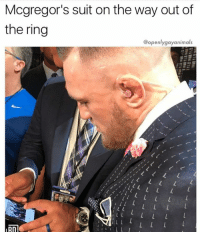 @openlygayanimals is hilarious: Mcgregor's suit on the way out of  the ring  @openlygayanimals  nD @openlygayanimals is hilarious
