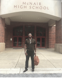 Gucci Mane visits his old high school 🙏👏 https://t.co/B71GzJtaFy: McN AIR  HIGH SCHOOL Gucci Mane visits his old high school 🙏👏 https://t.co/B71GzJtaFy