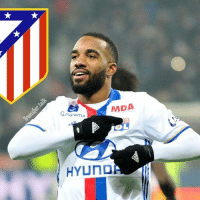 Atletico Madrid are confident that their transfer ban will be lifted in May, and have agreed a deal in principle to sign Lyon's 25-year-old forward Alexandre Lacazette. (Cope - in Spanish): MDA  Goupama  SL  HYUNDA Atletico Madrid are confident that their transfer ban will be lifted in May, and have agreed a deal in principle to sign Lyon's 25-year-old forward Alexandre Lacazette. (Cope - in Spanish)