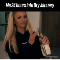 Dank, Facts, and 🤖: Me 24hoursinto Dry January  drinkaware.co.uk  for the facts Maybe next year? 😅😂