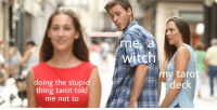 "Tumblr, Blog, and Witch: me a  Witch  doing the stupid  taro  deck  thing tarot told  me not to <p><a href=""https://foresthidden.tumblr.com/post/172070332972"" class=""tumblr_blog"">foresthidden</a>:</p><blockquote><p>🌱🌙🔮</p></blockquote>"