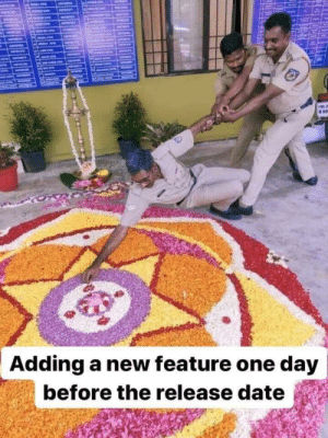 Release Scenes!!: ME  Adding a new feature one day  before the release date Release Scenes!!
