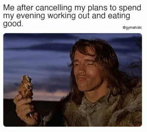 Me after cancelling my plans to spend my evening working out and eating good.  Gymaholic App: https://www.gymaholic.co  #fitness #motivation #workout #gymaholic #meme: Me after cancelling my plans to spend my evening working out and eating good.  Gymaholic App: https://www.gymaholic.co  #fitness #motivation #workout #gymaholic #meme