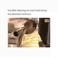 Af, Funny, and Relatable: me after cleaning my roam and doing  the absolute minimum Relatable af