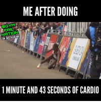 Instagram, Diet, and Coke: ME AFTER DOING  FRIL  NATION  ON INSTAGRAM  1 MINUTE AND 43 SECONDS OF CARDIo Somebody get me a diet coke ... Via @gymfailnation 🎥