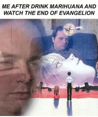 evangelion: ME AFTER DRINK MARIHUANA AND  WATCH THE END OF EVANGELION