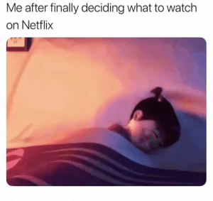 Dank, Netflix, and Watch: Me after finally deciding what to watch  on Netflix Are you still there?