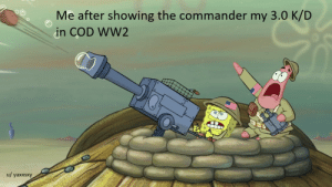 Sir, We are taking fire!: Me after showing the commander my 3.0 K/D  in COD WW2  u/ yaxxsxy Sir, We are taking fire!