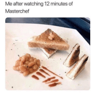Something like that 😂: Me after watching 12 minutes of  Masterchef Something like that 😂