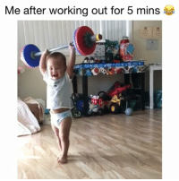 Memes, Working Out, and youtube.com: Me after working out for 5 mins this is me! 😂 👉🏻(@bestvideos fitness fitnesshumor) Credit: Christy Kanoe (Youtube)
