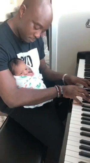 Me and my 3 day old baby girl at home for the first time so i had to bring her to the piano. She hadn't even opened her eyes before this moment. I was just so overwhelmed and thankful for our blessing #ILoveYouJesus @Marcus Blackwell: Me and my 3 day old baby girl at home for the first time so i had to bring her to the piano. She hadn't even opened her eyes before this moment. I was just so overwhelmed and thankful for our blessing #ILoveYouJesus @Marcus Blackwell