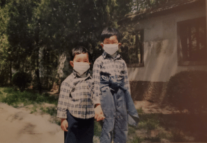 Me and my brother, 2003 SARS outbreak, Beijing: Me and my brother, 2003 SARS outbreak, Beijing