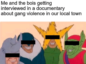 Gang, Local, and Town: Me and the bois getting  interviewed in a documentary  about gang violence in our local town We didnt do it