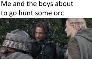 Lord of the Rings, Travel, and Boys: Me and the boys about  to go hunt some orc We travel light
