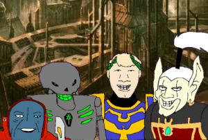 Me and the boys and my big titty eldar gf making the last stand against the forces of chaos: Me and the boys and my big titty eldar gf making the last stand against the forces of chaos