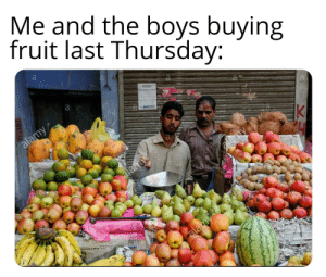 Froot: Me and the boys buying  fruit last Thursday:  a  alamy  K  eny  elamy  a  alay Froot