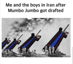 Red stone be like: Me and the boys in Iran after  Mumbo Jumbo got drafted Red stone be like