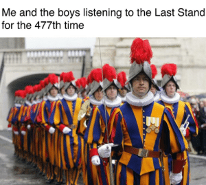 FOR THE GRACE FOR THE MIGHT OF THE LORD: Me and the boys listening to the Last Stand  for the 477th time FOR THE GRACE FOR THE MIGHT OF THE LORD