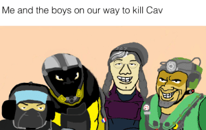 Paint, Boys, and Ms Paint: Me and the boys on our way to kill Cav  297 Here's my own MS Paint attempt at the Boys