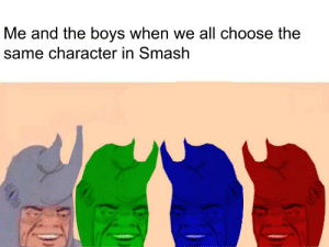 Smashing, Final Destination, and Boys: Me and the boys when we all choose the  same character in Smash Final Destination, No Items