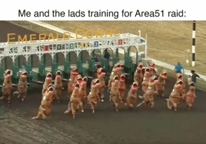 Shit, Dank Memes, and Raid: Me and the lads training for Area51 raid:  EMERALD  0 oh shIt, here we go again!