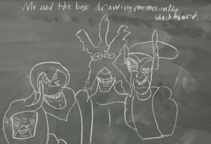 Memes, Science, and Dank Memes: Me and thi boys drawing memes onthe  aleck binrd Substitute in Science